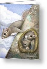 Squirrels Greeting Card by Wayne Hardee