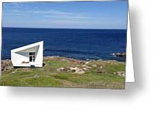 Squish Studio Tilting Fogo Island Newfoundland Greeting Card