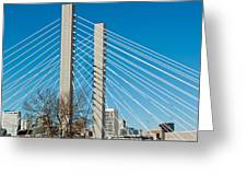Sr-509 Cable Stayed Bridge Greeting Card