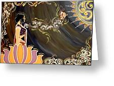 Sri Lalita Greeting Card by Meenakshi Malhotra