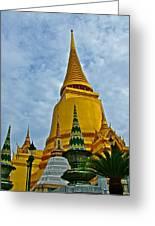 Sri Lanka Pagoda At Grand Palace Of Thailand In Bangkok Greeting Card