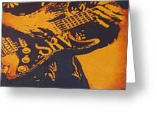 Srv  Number One Fender Stratocaster Greeting Card