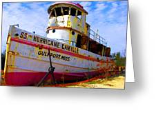 Ss Hurricane Camille Tugboat Greeting Card