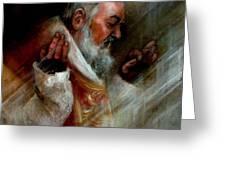 Ss Padre Pio At Matins Greeting Card
