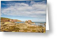 St Abbs Rocky Shoreline Greeting Card