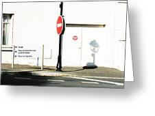 St. Aignan Signs And Shadows Greeting Card