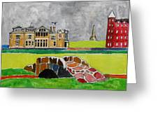 St Andrews Swilcan Bridge Greeting Card