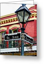 St. Ann And Chartres Nola  Greeting Card