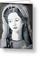 St. Anne - Value Work  Greeting Card