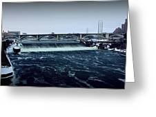 St Anthony Falls Minneapolis Greeting Card
