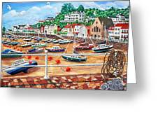 St Aubin's Harbour - Jersey Greeting Card