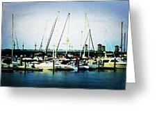St. Augustine Sailboats Greeting Card