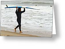 St Augustine Surfer Four Greeting Card