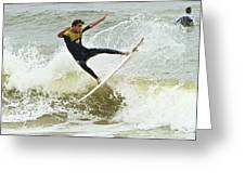 St Augustine Surfer Two Greeting Card
