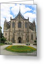 St Barbaras Cathedral Kutna Hora Czech Republic Greeting Card