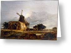 St Benets Abbey And Mill, Norfolk, 1833 Greeting Card