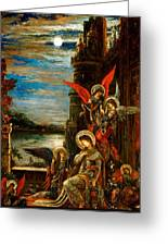 St Cecilia The Angels Announcing Her Coming Martyrdom Greeting Card by Gustave Moreau
