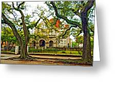 St. Charles Ave. Mansion Paint Greeting Card