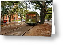 St. Charles Ave. Streetcar In New Orleans Greeting Card