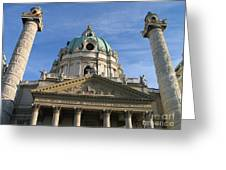 St Charles Church Vienna Austria Greeting Card