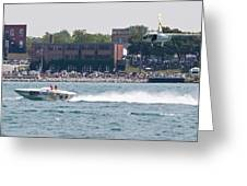 St. Clair Michigan Usa Power Boat Races-4 Greeting Card