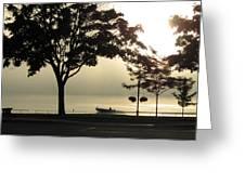 St. Clair Sunrise With Fog Greeting Card