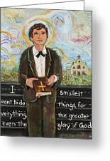 St Dominic Savio Greeting Card
