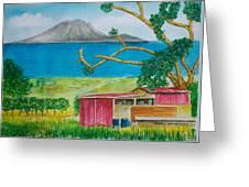 St. Eustatis From St. Kitts Greeting Card