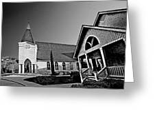 St. Francis - Abstract Bw Greeting Card