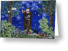 St. Francis And Spike Greeting Card