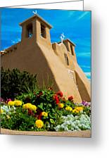 St Francis D'asis Mission Church. Taos New Mexico Greeting Card