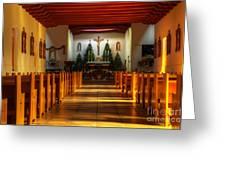 St Francis De Paula Mission Tularosa Greeting Card by Bob Christopher