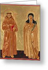St. Francis Of Assisi And St. Clare Greeting Card