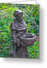 St Francis Of Assisi Garden Statute Greeting Card
