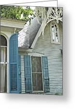 St Francisville Inn Windows Louisiana Greeting Card