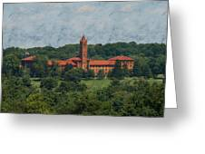 St. Gabriel's From Valley Forge Greeting Card