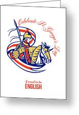 St. George Day Celebration Proud To Be English Retro Poster Greeting Card