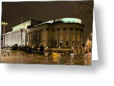 St Georges Hall Liverpool Greeting Card