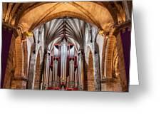 St. Giles Pipe Organ Greeting Card