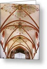 St Goar Organ And Ceiling Greeting Card