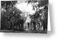 St Helena Chapel Of Ease Bw 2 Greeting Card