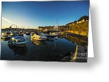 St Hellier Harbour  Greeting Card