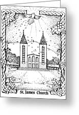 St James And Dove Greeting Card