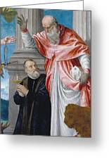 St. Jerome And A Donor Greeting Card