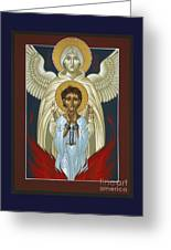 St. Joan Of Arc With St. Michael The Archangel 042 Greeting Card
