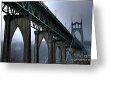 St Johns Bridge Oregon Greeting Card