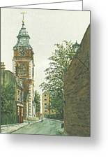 St Johns Church Wapping From Scandrett Street Greeting Card