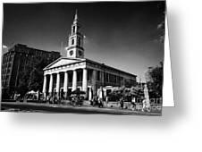 st johns church waterloo London England UK Greeting Card