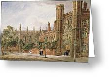 St. Johns College, Cambridge, 1843 Greeting Card