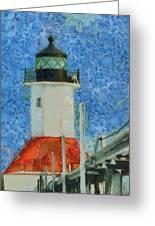 St. Joseph Lighthouse Lake Michigan Greeting Card